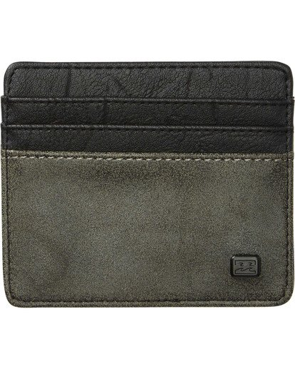 0 Dimension Card Holder Wallet Grey MAWTNBDC Billabong