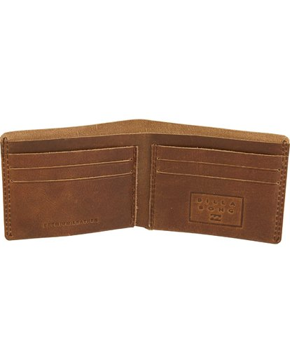 1 All Day Leather Wallet Brown MAWTQBAL Billabong