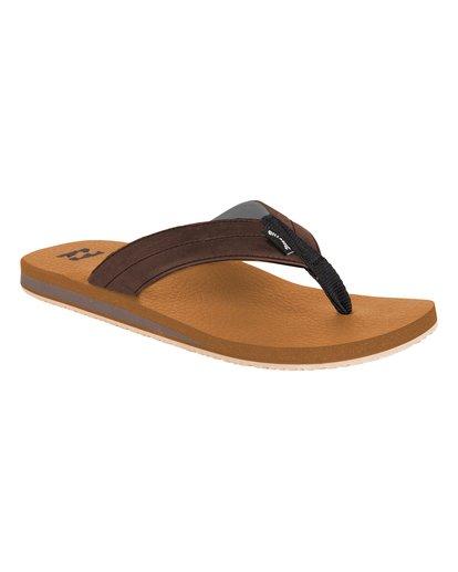 1 All Day Impact Cush Sandals Brown MFOT1BAC Billabong
