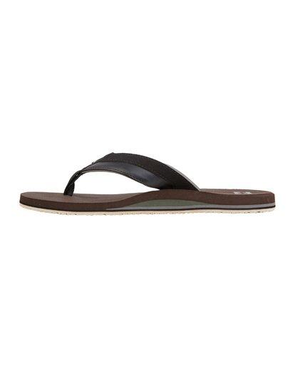 5 All Day Impact Sandals Brown MFOT1BAD Billabong
