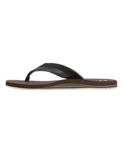 3 All Day Impact Sandals Brown MFOT1BAD Billabong