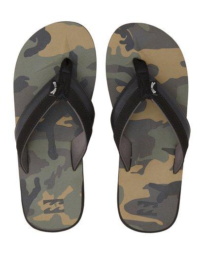 4 All Day Impact Print Sandals Black MFOT1BAI Billabong
