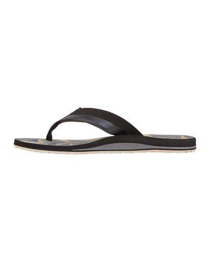 5 All Day Impact Print Sandals Black MFOT1BAI Billabong