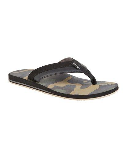 6 All Day Impact Print Sandals Black MFOT1BAI Billabong