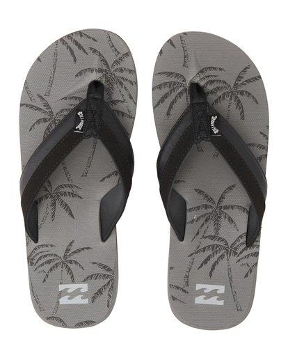 4 All Day Impact Print Sandals Grey MFOT1BAI Billabong