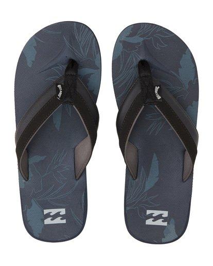 4 All Day Impact Print Sandals Blue MFOT1BAI Billabong
