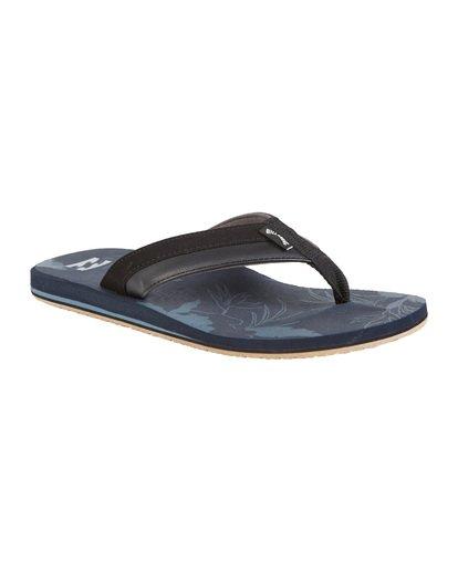 6 All Day Impact Print Sandals Blue MFOT1BAI Billabong