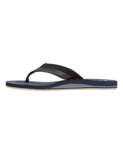 3 All Day Impact Print Sandals Blue MFOT1BAI Billabong