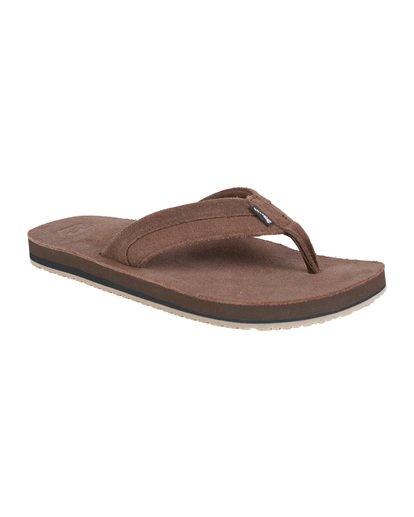 6 All Day Leather Sandals Brown MFOT1BAL Billabong