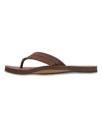 3 All Day Leather Sandals Brown MFOT1BAL Billabong