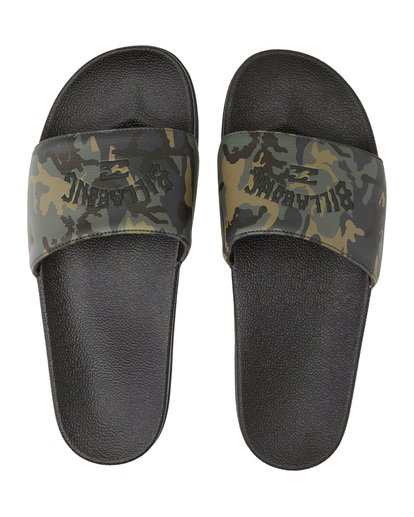 0 Poolslide Corp Vegan Leather Sandals Black MFOT1BPO Billabong