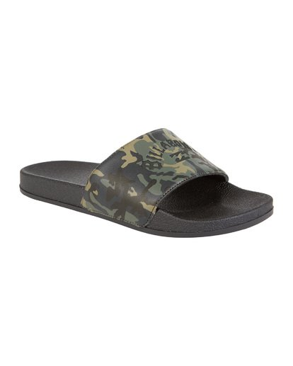 2 Poolslide Corp Vegan Leather Sandals Black MFOT1BPO Billabong