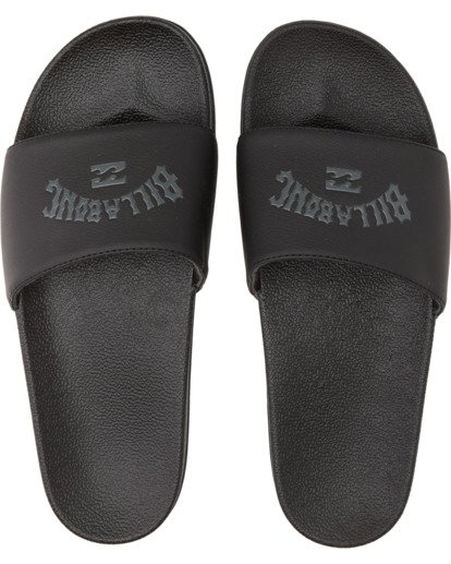 1 Poolslide Corp Vegan Leather Sandals Black MFOT1BPO Billabong