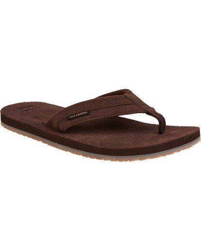 0 All Day Leather Sandals Brown MFOTTBAL Billabong