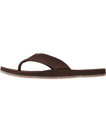 3 All Day Leather Sandals Brown MFOTTBAL Billabong