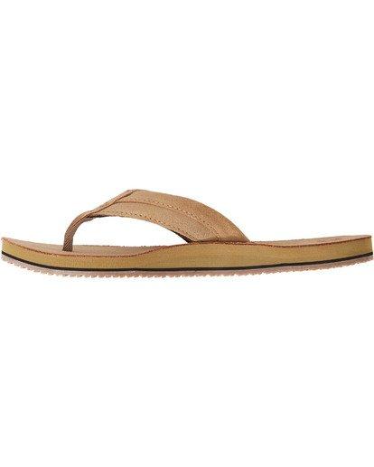 3 All Day Leather Sandals Brown MFOTTBAL Billabong