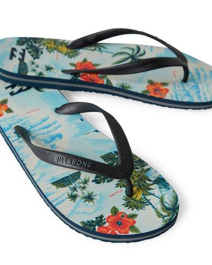 1 Tides Print Hawaii Sandals Blue MFOTVBTH Billabong
