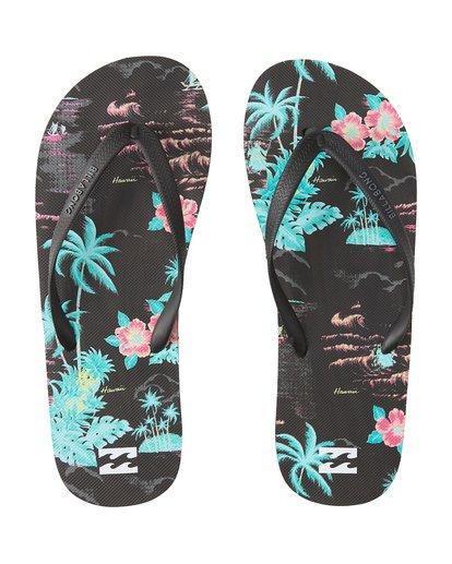 0 Tides Print Hawaii Sandals Blue MFOTVBTH Billabong