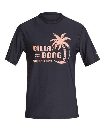 0 Social Club Loose Fit Short Sleeve Surf Shirt Black MR011BSC Billabong