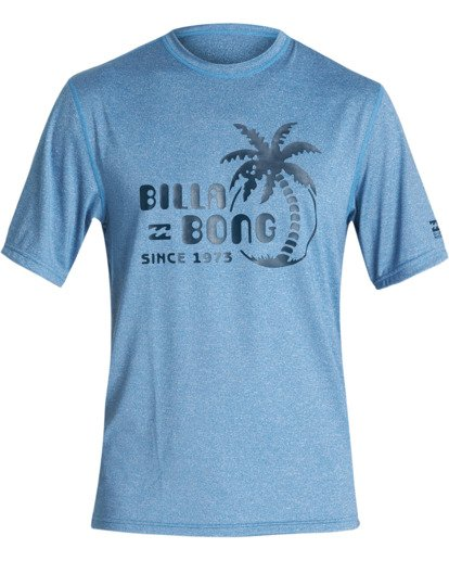 0 Social Club Loose Fit Short Sleeve Surf Shirt Blue MR011BSC Billabong