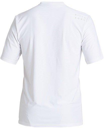 1 All Day Wave Loose Fit Short Sleeve Rashguard White MR013BAL Billabong