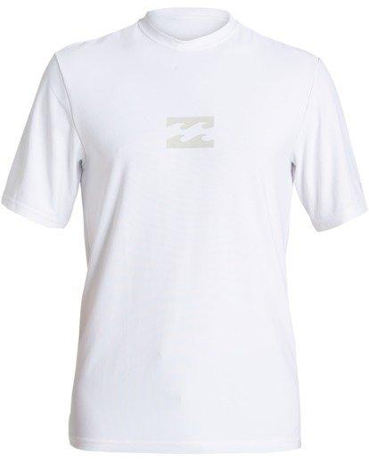 0 All Day Wave Loose Fit Short Sleeve Rashguard White MR013BAL Billabong