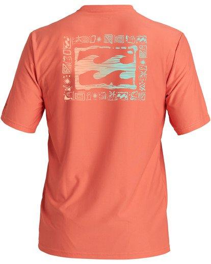 1 Crayon Wave Loose Fit Short Sleeve Rashguard Orange MR013BCW Billabong