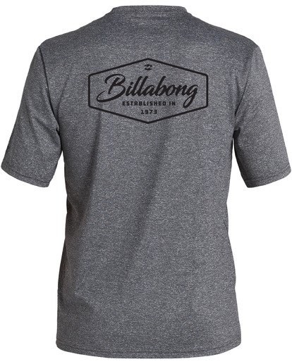 1 Trade Loose Fit Short Sleeve Rashguard Grey MR013BTR Billabong