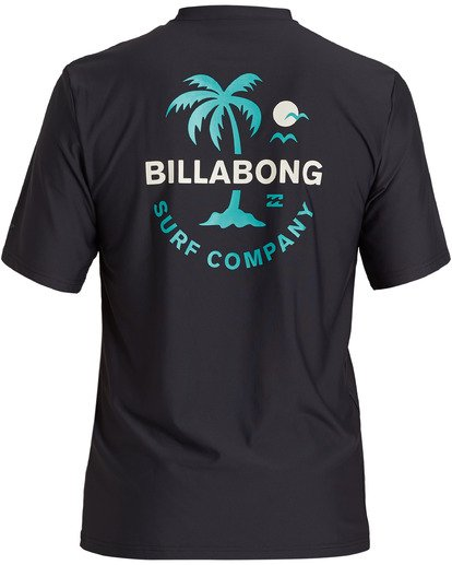 1 Vacation Loose Fit Short Sleeve Rashguard Black MR013BVA Billabong