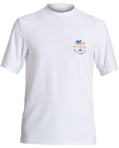 0 Vacation Loose Fit Short Sleeve Rashguard White MR013BVA Billabong