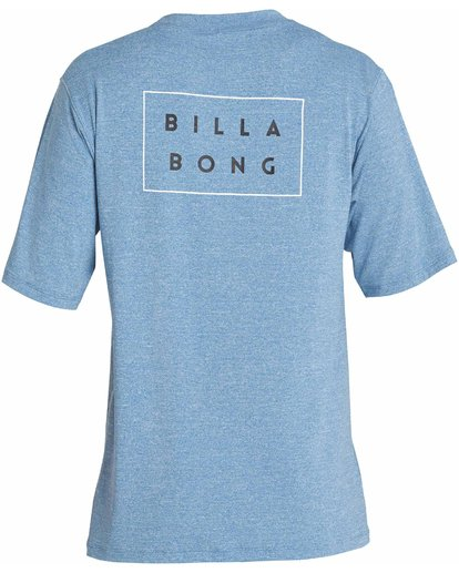1 Die Cut Loose Fit Short Sleeve Rashguard Blue MR01NBDC Billabong