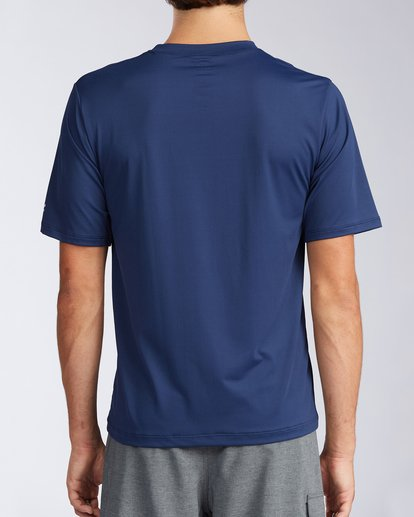 2 Florida Inverse Loose Fit Short Sleeve Rashguard Blue MR01QBFR Billabong
