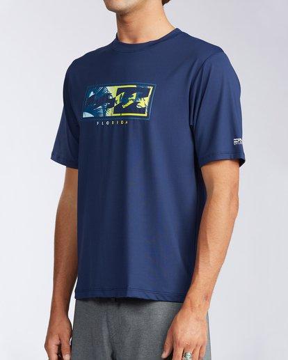 1 Florida Inverse Loose Fit Short Sleeve Rashguard Blue MR01QBFR Billabong