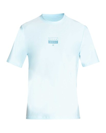 0 Decal Loose Fit Short Sleeve Rashguard Blue MR01TBDE Billabong