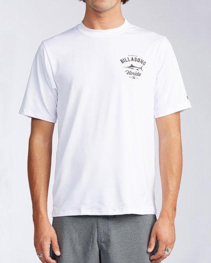 0 Florida Marlin Loose Fit Short Sleeve Rashguard White MR01TBMD Billabong