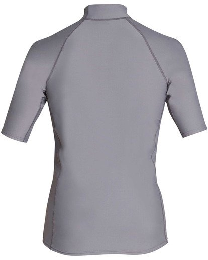 1 Rotor Performance Fit Short Sleeve Rashguard Grey MR01TBRO Billabong