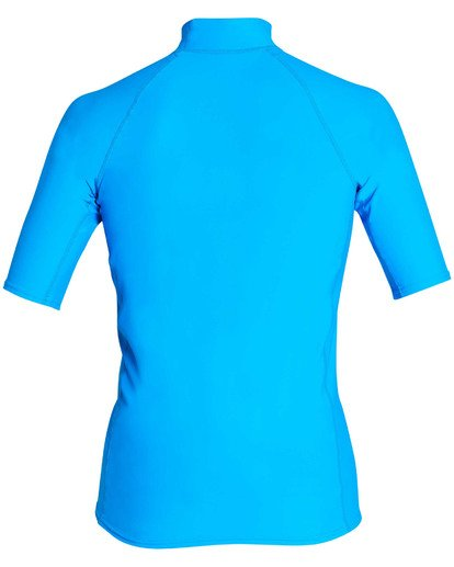 1 Rotor Performance Fit Short Sleeve Rashguard Blue MR01TBRO Billabong