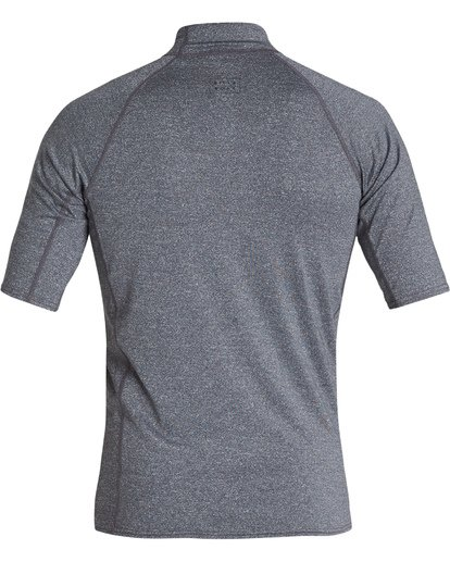 1 All Day Wave Performance Fit Short Sleeve Rashguard Grey MR021BAL Billabong
