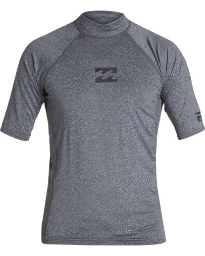 0 All Day Wave Performance Fit Short Sleeve Rashguard Grey MR021BAL Billabong