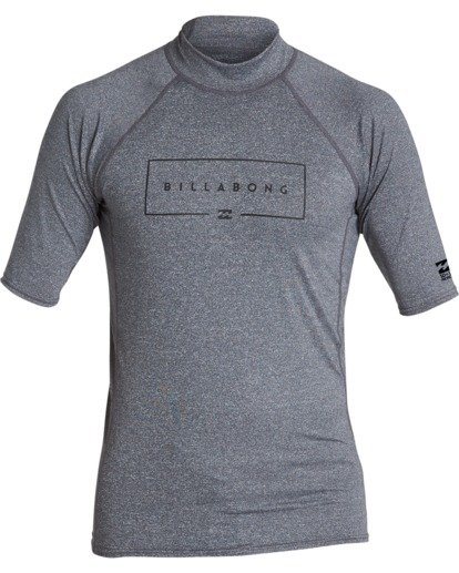 0 Union Performance Fit Short Sleeve Rashguard Grey MR021BUN Billabong