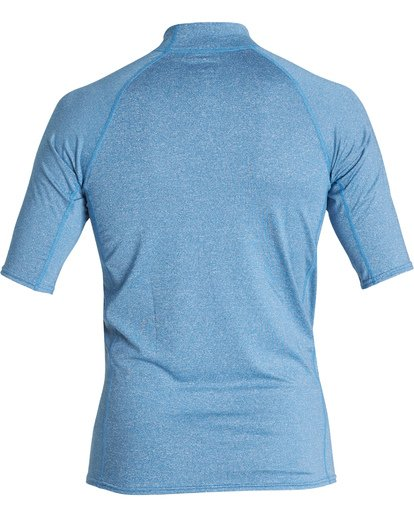 1 Union Performance Fit Short Sleeve Rashguard Blue MR021BUN Billabong