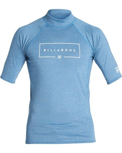 0 Union Performance Fit Short Sleeve Rashguard Blue MR021BUN Billabong