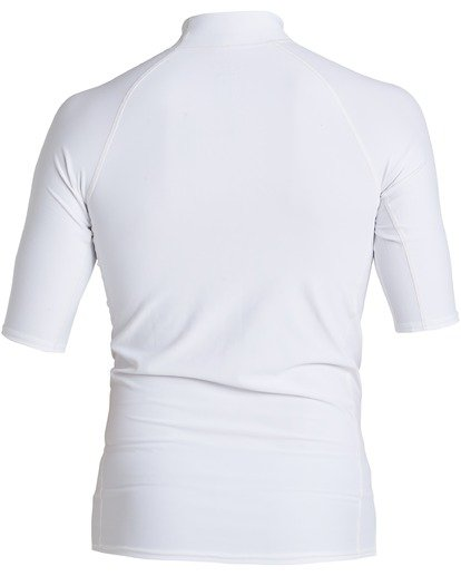 1 Rotor Performance Fit Short Sleeve Rashguard White MR023BRO Billabong