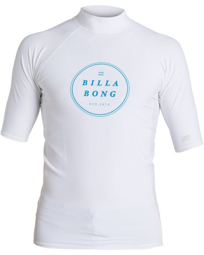 0 Rotor Performance Fit Short Sleeve Rashguard White MR023BRO Billabong