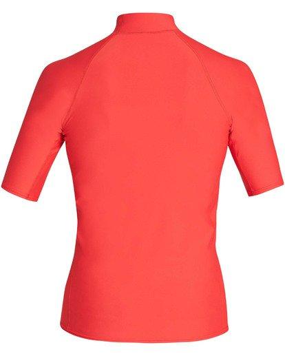 1 Union Performance Fit Short Sleeve Rashguard Red MR02TBUN Billabong