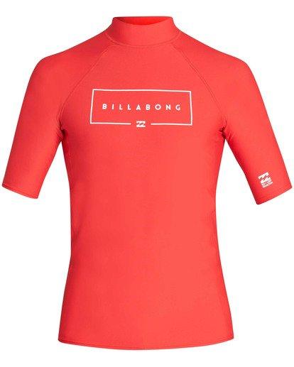0 Union Performance Fit Short Sleeve Rashguard Red MR02TBUN Billabong