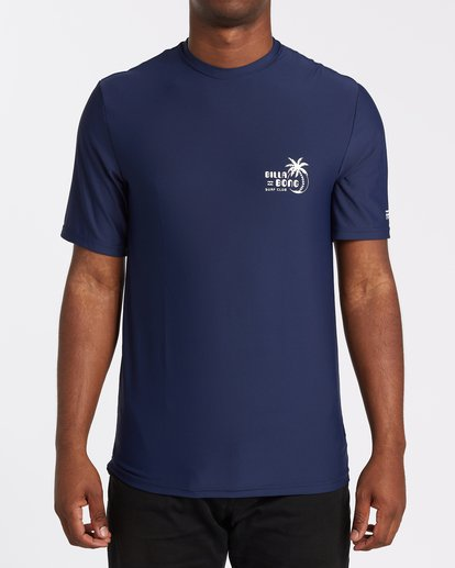 0 Social Club Loose Fit Short Sleeve Surf Shirt Blue MR031BSR Billabong