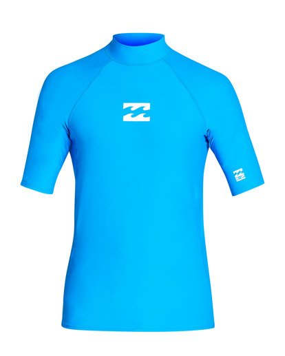 0 All Day Wave Performance Fit Short Sleeve Rashguard Blue MR03TBAL Billabong