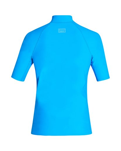 1 All Day Wave Performance Fit Short Sleeve Rashguard Blue MR03VBAL Billabong