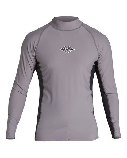 0 Diamond Performance Fit Short Sleeve Rashguard Grey MR03VBDI Billabong